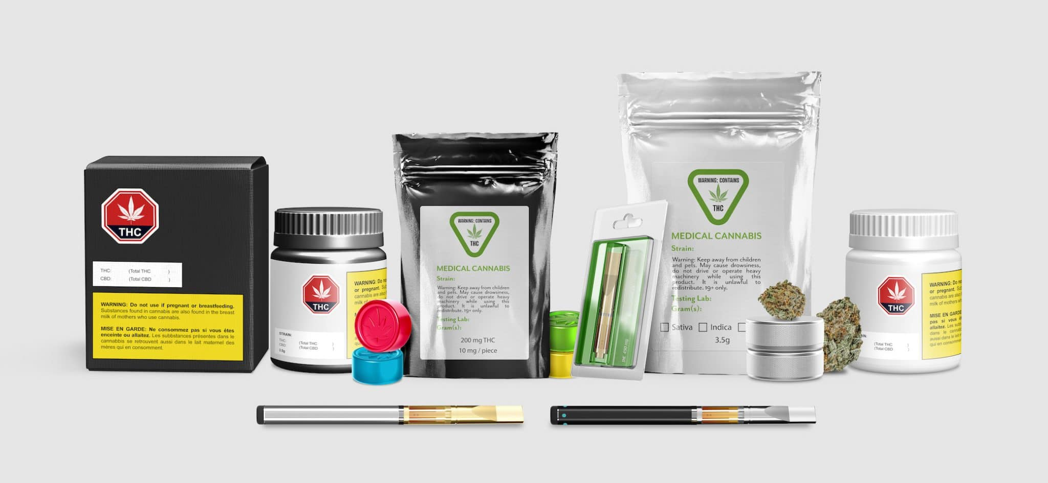cannabis product packaging