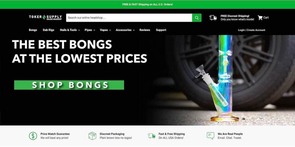 toker supply website screen shot
